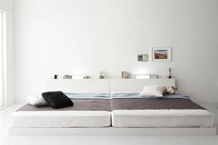 2台連結したベッド