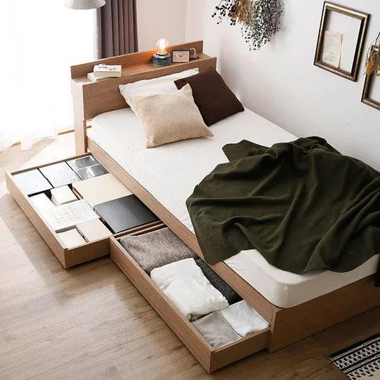 スタンダード収納付きベッド