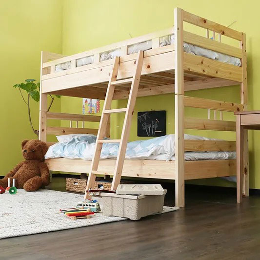 LOWYA「国産ひのき二段ベッド」