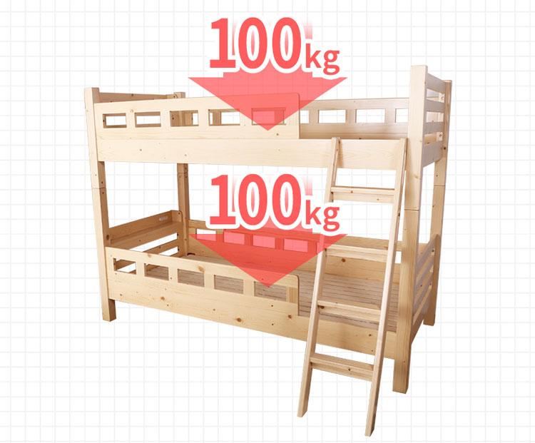 二段ベッドの耐荷重(例)