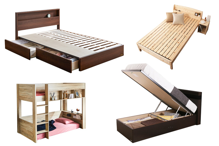 ベッドフレームの種類