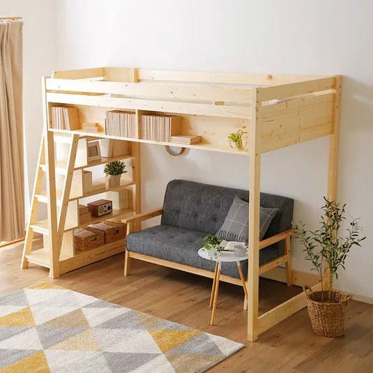 階段収納のロフトベッド