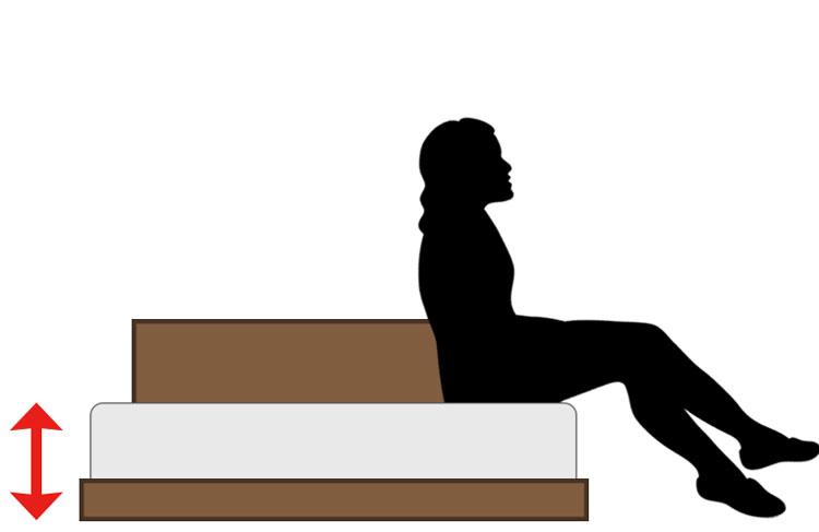 低いベッド