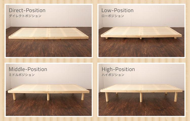 高さ調節可能なベッド