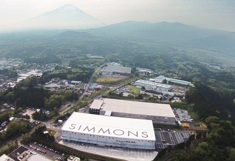 シモンズの富士小山工場