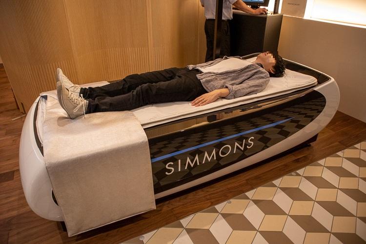 シモンズの寝姿勢測定システム