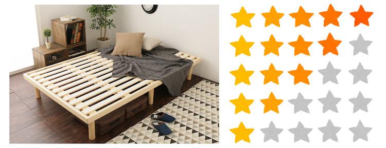 すのこベッドの評価方法