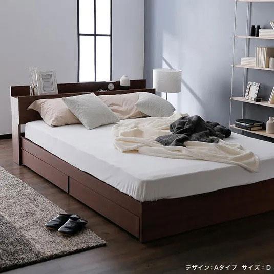 LOWYAの収納付きベッド
