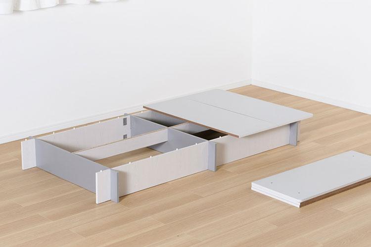 フタ式収納ベッド
