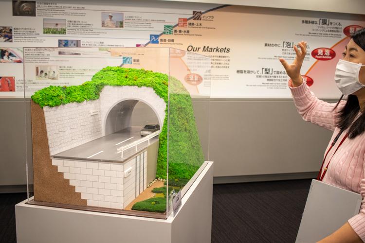 トンネルの景観資材