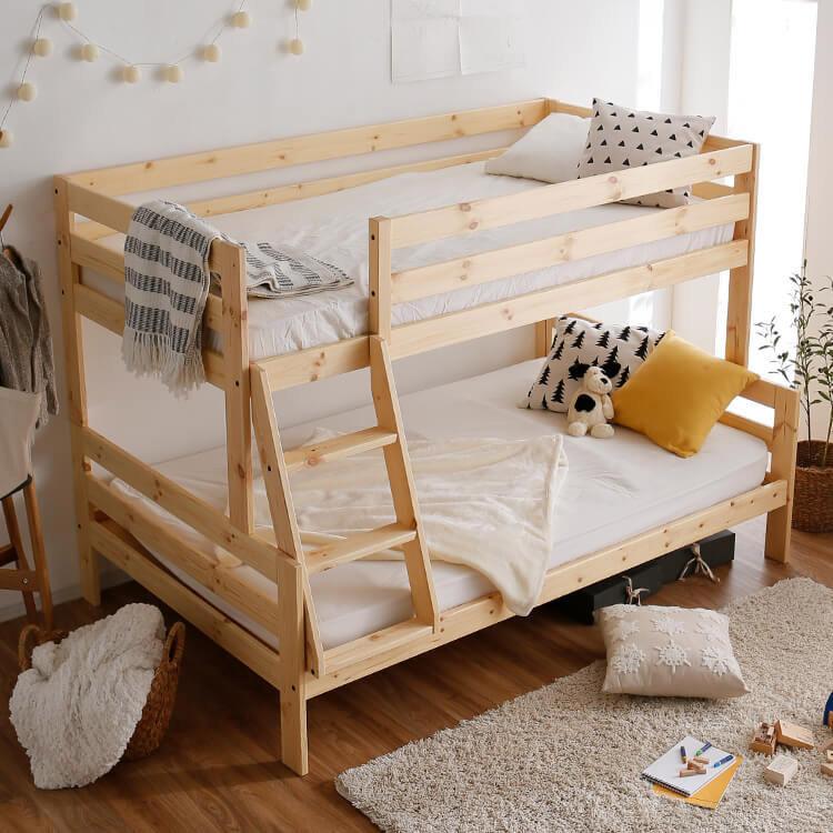 二段タイプの親子ベッド