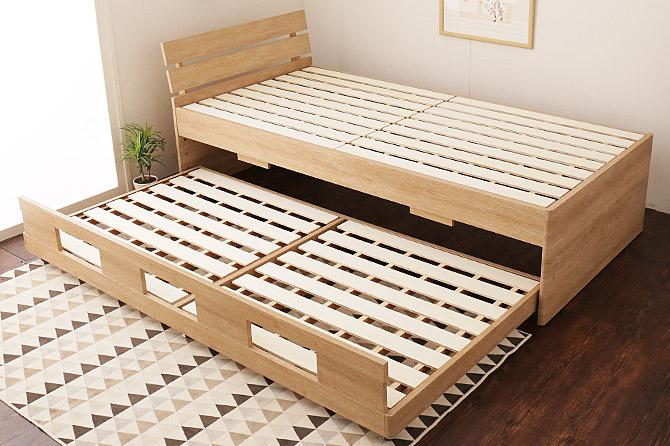スライドタイプの親子ベッド