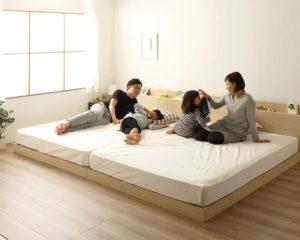連結タイプの親子ベッド