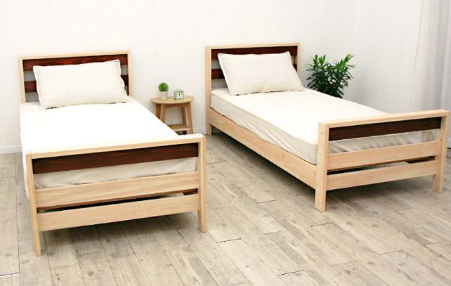 きれいに分割できる二段ベッド