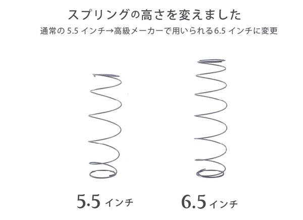 プレミアムタイプのスプリング(6.5インチ)