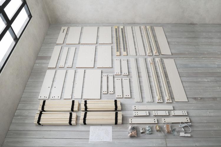 組み立てが複雑なベッドフレーム(パーツが多い)