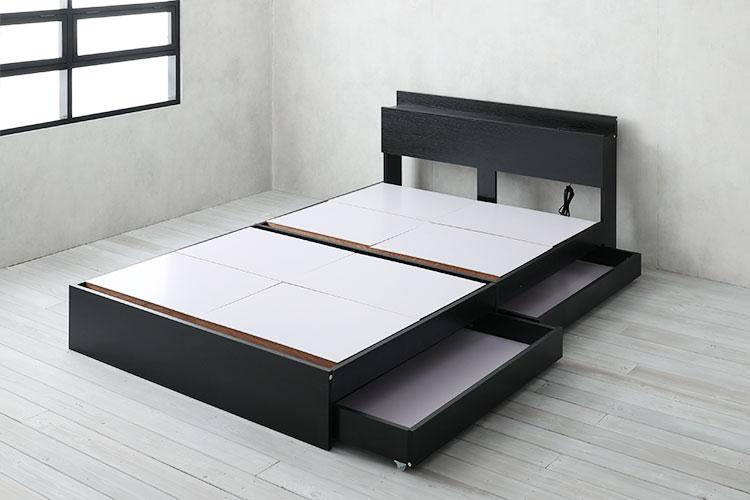 格安の引出し付き収納ベッド