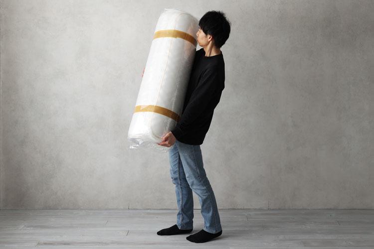 マットレス(梱包状態)での持ち運び