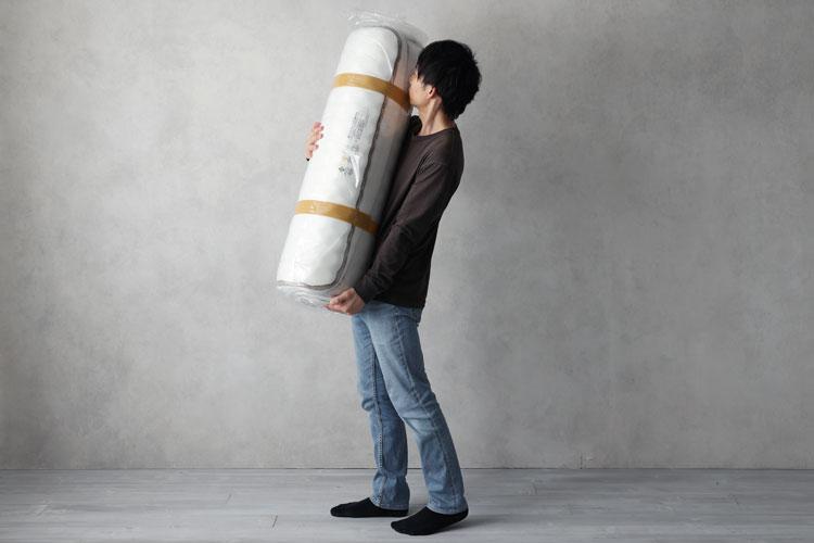 圧縮梱包はコンパクトに搬入できる