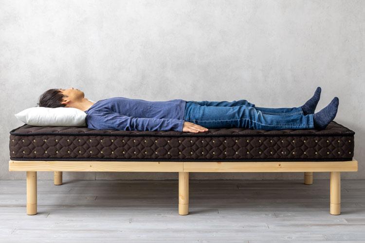 「仰向き寝・男性体型」は硬めが合いやすい