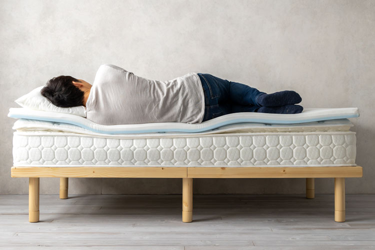 柔らかめのマットレスに寝た場合