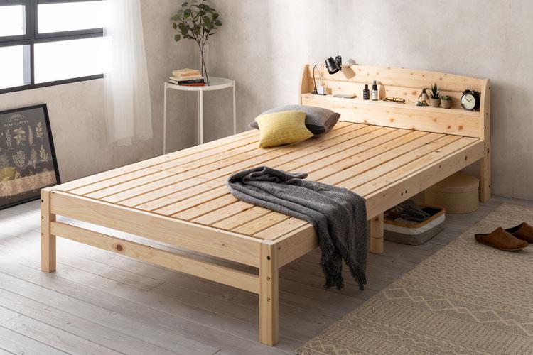 源ベッドの国産ひのきすのこベッド