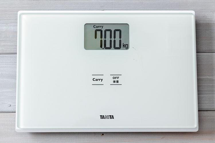 7.00kg(体重計表示)