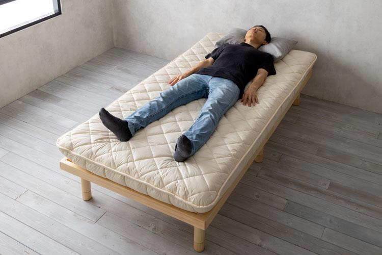 敷布団タイプの寝心地