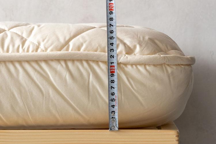 厚さの計測(敷布団)