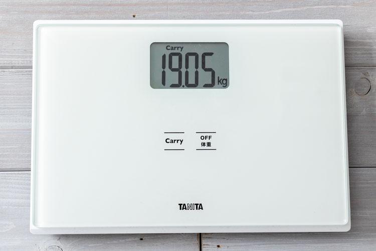 重量計測(19.05kg)